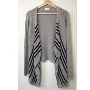 Lou & Grey Ribbon Knit Open Front Cardigan